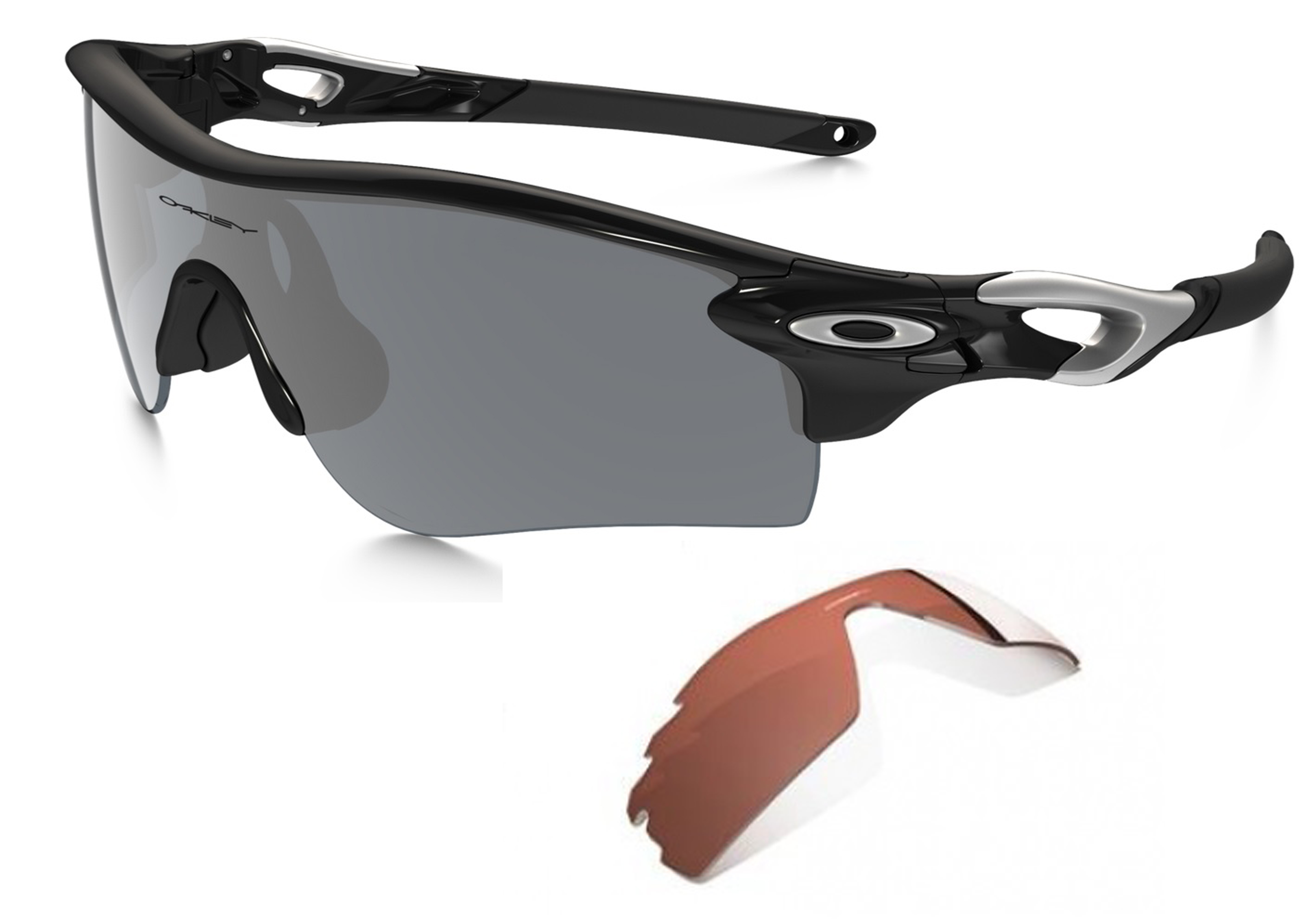 Oakley Radarlock Path Polished Black/Black Iridium/VR28 Brille ...