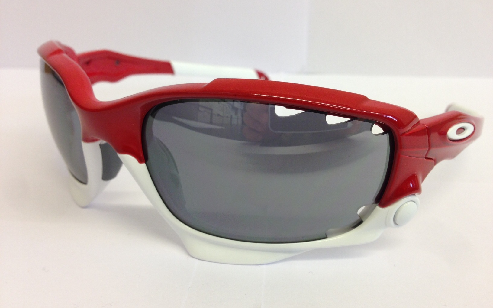 oakley racing jacket custom team red black iridium brille. Black Bedroom Furniture Sets. Home Design Ideas